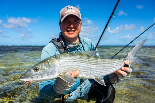 Fly fishing Providence Atoll in Seychelles