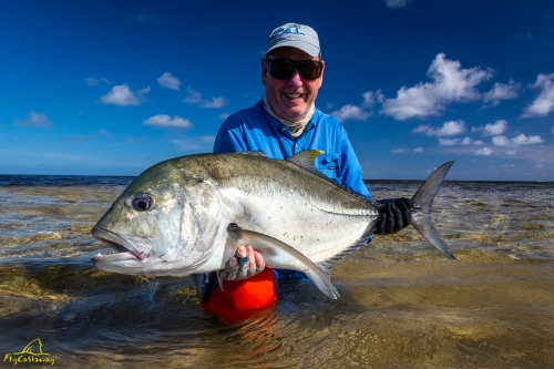 Giant Trevally caught on Providence Atoll in Seychelles